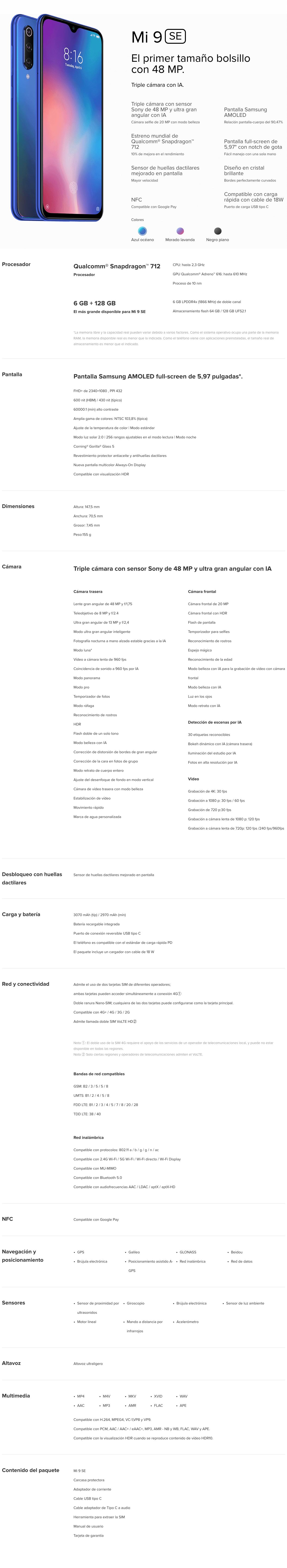 Xiaomi Mi 9 SE - Mi Store Mexico